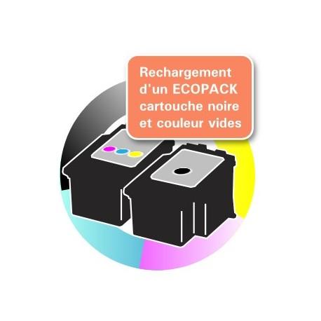 RECHARGEMENT ECOPACK 2 CARTOUCHES D'ENCRE Type CANON 540/541