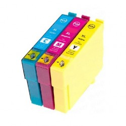PACK 3 CARTOUCHES Type EPSON T2992/93/94 C/Y/M