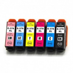 ECOPACK 6 CARTOUCHES B/C/Y/M + PC/PM Type EPSON T3798