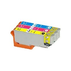 PACK 3 CARTOUCHES D'ENCRE CYAN/JAUNE/MAGENTA Type EPSON T2992/93/94