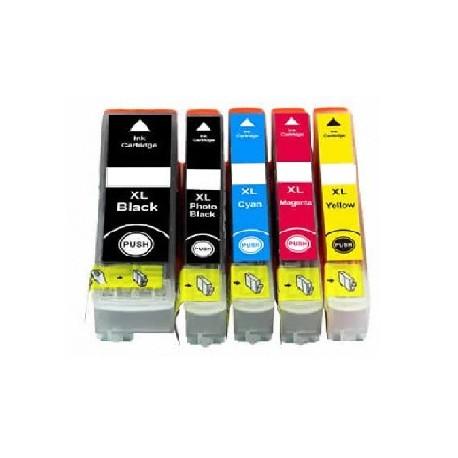 ECOPACK 5 CARTOUCHES D'ENCRE BK(2) + C/Y/M Type EPSON T3351/61/62/63/64
