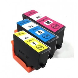 PACK 3 CARTOUCHES C/Y/M Type EPSON 202xl C/Y/M