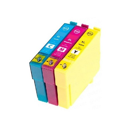 ECOPACK 6 CARTOUCHES D'ENCRE NOIRE/CYAN/JAUNE/MAGENTA+Photo CYAN/MAGENTA Type EPSON T3798