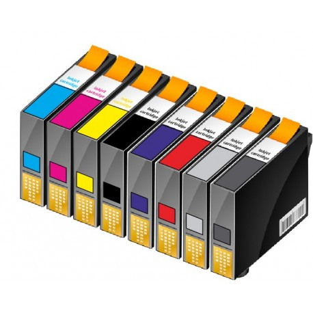 ECOPACK 8 CARTOUCHES D'ENCRE Type EPSON T0540/41/42/43/44/47/48/49