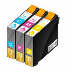 ECOPACK 5 CARTOUCHES D'ENCRE 2xNOIRE + CYAN/JAUNE/MAGENTA Type EPSON T0711(2)/12/13/14