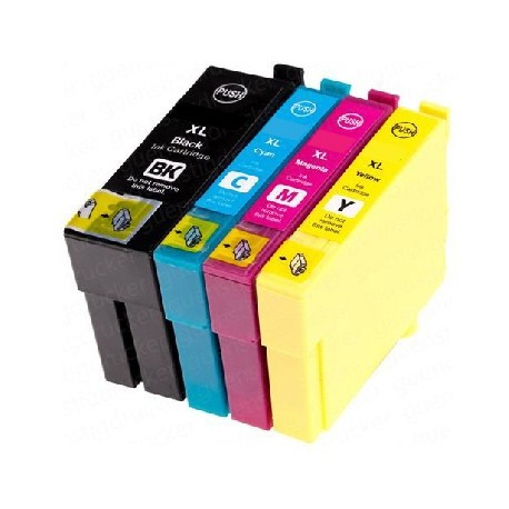 PACK 3 CARTOUCHES D'ENCRE CYAN/JAUNE/MAGENTA Type EPSON T0802/03/04