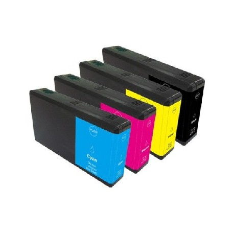 ECOPACK 4 CARTOUCHES B/C/Y/M Type EPSON T7011/12/13/14