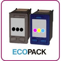 ECOPACK 2 CARTOUCHES D'ENCRE Type HP 21xl et HP 22xl