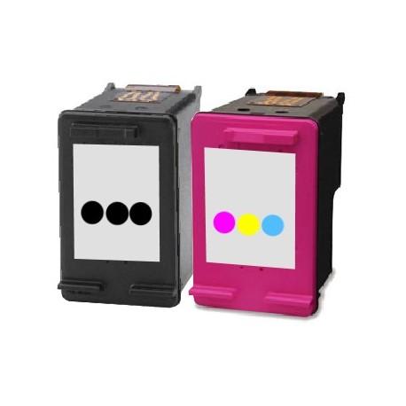 RECHARGEMENT d'un ECOPACK 2 CARTOUCHES D'ENCRE Type HP 304xl noire et couleurs