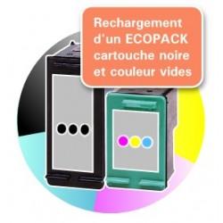 RECHARGEMENT ECOPACK 2 CARTOUCHES D'ENCRE Type HP 350xl et HP 351xl
