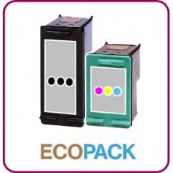 ECOPACK 2 CARTOUCHES D'ENCRE Type HP 350xl et HP 351xl