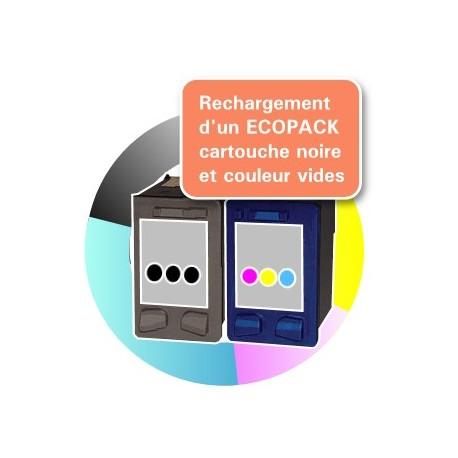 RECHARGEMENT ECOPACK 2 CARTOUCHES D'ENCRE Type HP 56xl et HP 57xl