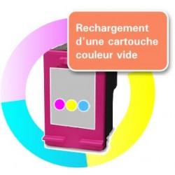 RECHARGEMENT CARTOUCHE D'ENCRE Type HP 62xl tricolor