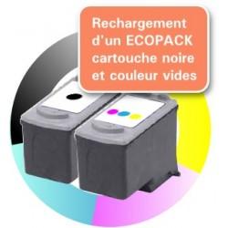 RECHARGEMENT ECOPACK 2 CARTOUCHES D'ENCRE Type CANON 40/41